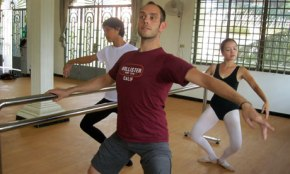 "The Guardian: ""British dancer leaps into action to bring ballet to Cambodia"""