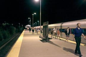 "The Boston Globe: ""Late trains to Newburyport a stark experience"""