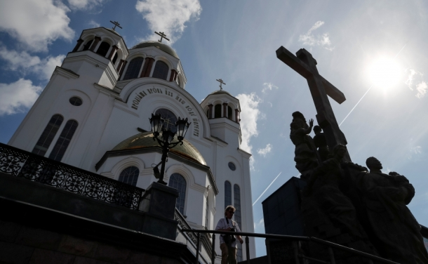 A church and monument to the last Russian Czar Nicholas II and his family are pictured in Yekaterinburg, Russia, Aug. 19, 2017. Credit: Maxim Shemetov/Reuters